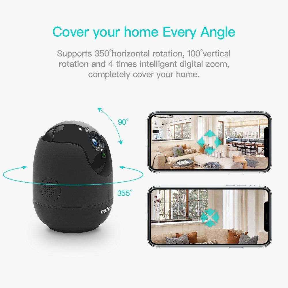 Netvue 1080P Home Security wifi Camera, Compatible with