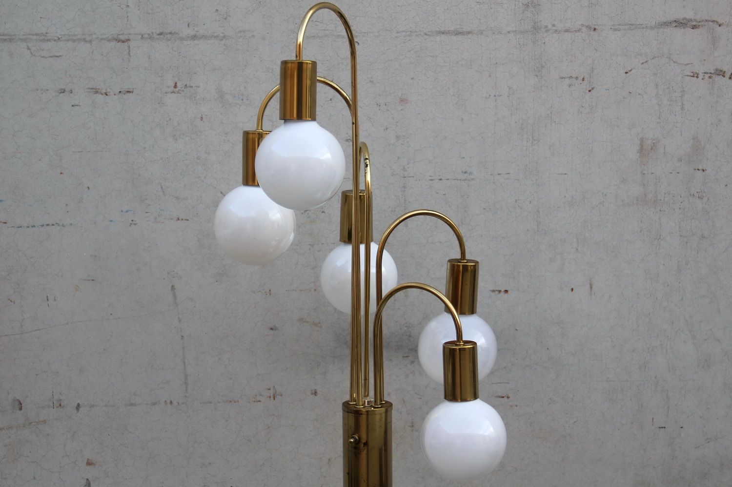 Image of brass cascading waterfall floor 5 bulb lamp by robert image of brass cascading waterfall floor 5 bulb lamp by robert sonneman mozeypictures Images