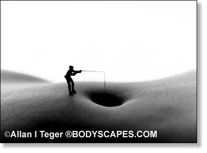 BodyScapes (miniatures on bodies) by Allan Teger