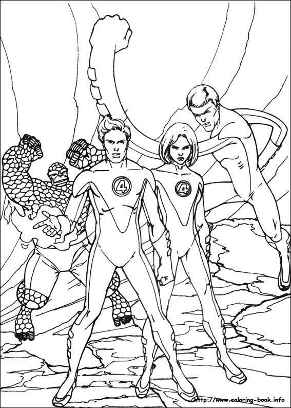 Fantastic Four coloring picture | Coloring and Activities | Pinterest