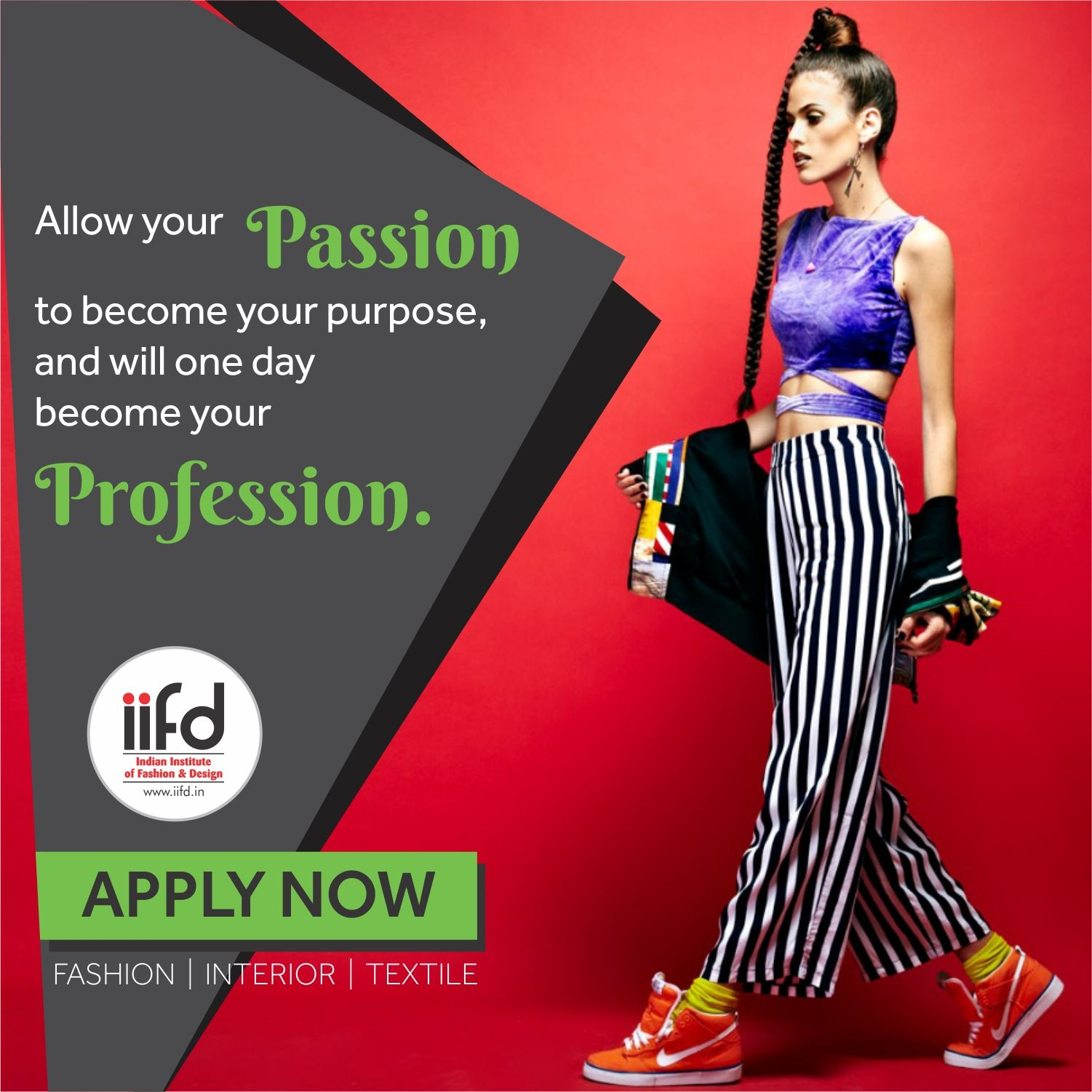 Let your passion to become your Profession. Join Indian Institute of Fashion & Design. For Admission, Contact @ 01724007918 #iifd #fashion #fashioninstitute
