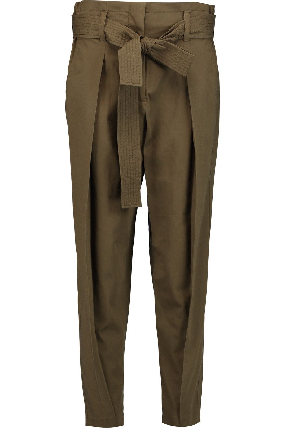 Shop on-sale 3.1 Phillip Lim Pleated cotton tapered pants. Browse other  discount designer