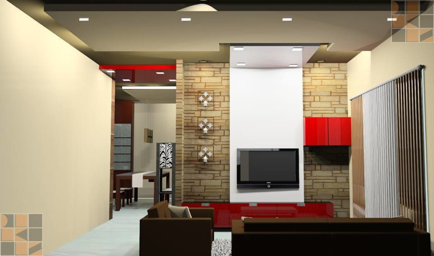 Proposed Residential Interiors For Ms Brindha Chennai Modern By