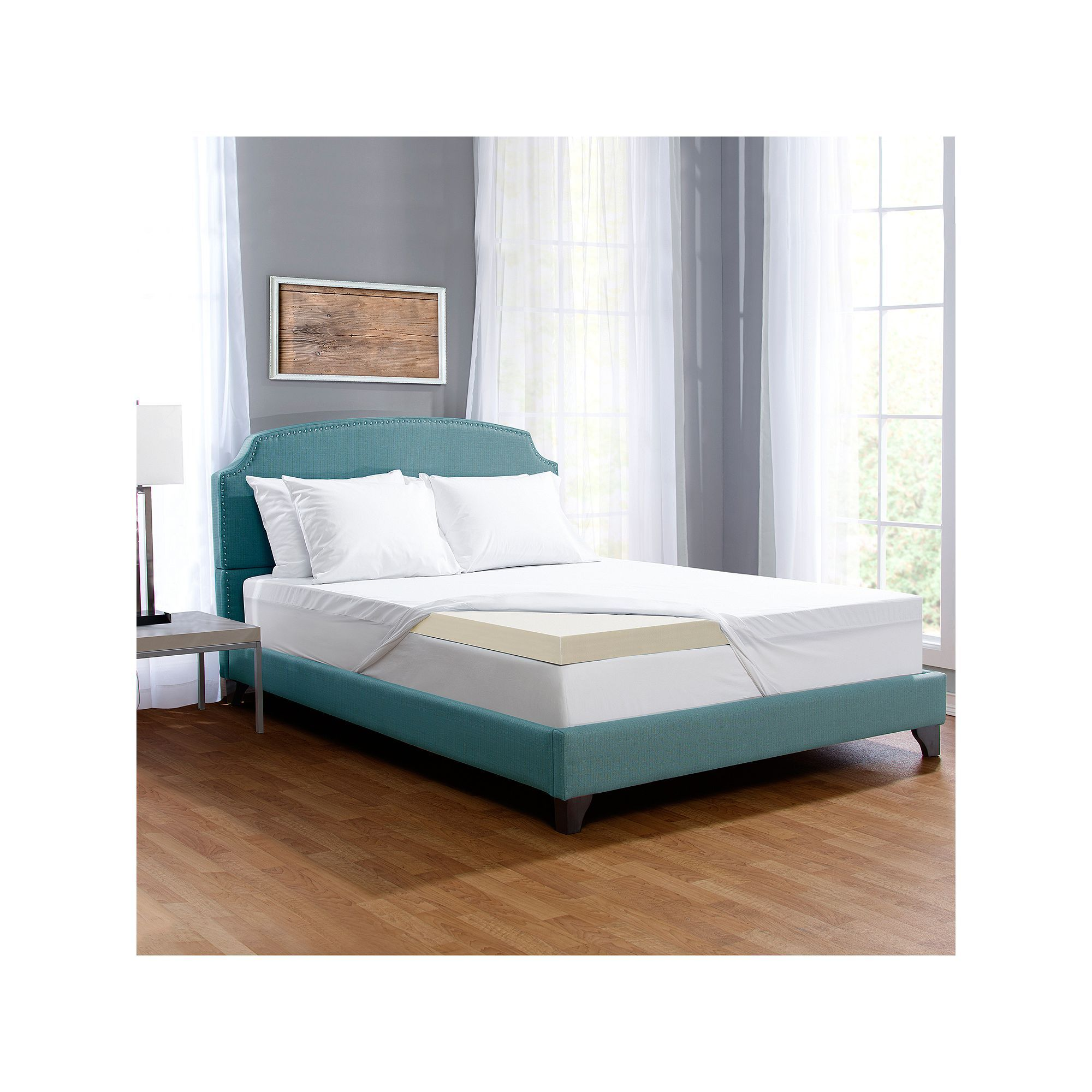 of comfort touch free deluxe serta mattress bedding inch foam topper product bath memory