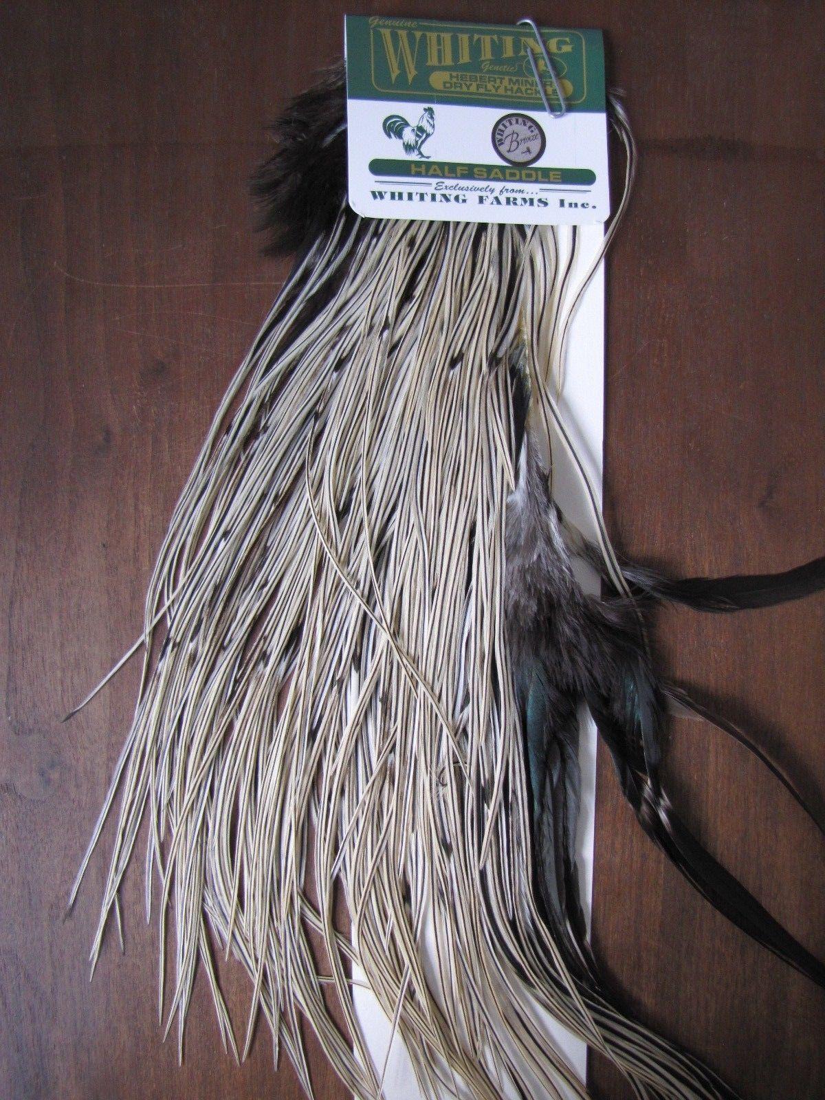 Angelsport-Köder, -Futtermittel & -Fliegen Fly Tying Whiting Bronze Rooster Saddle Grizzly #B Angelsport-Fliegen-Bindematerialien