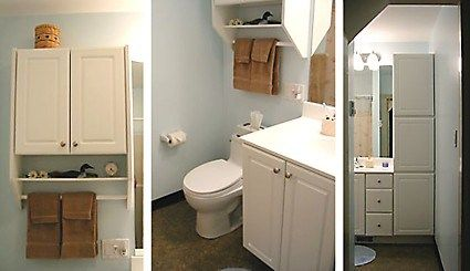 Small Cabinet Over Toilet Vanity With Sink And Under Counter Storage