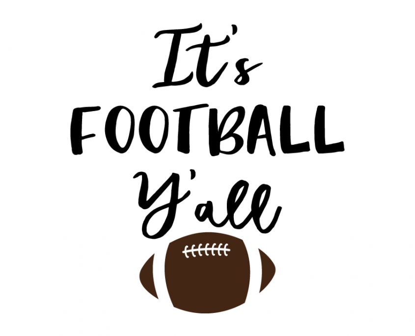 Free SVG cut files It's Football Y'all HTV Shirt Ideas