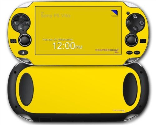 Sony PS Vita Skin Solids Collection Yellow by WraptorSkinz