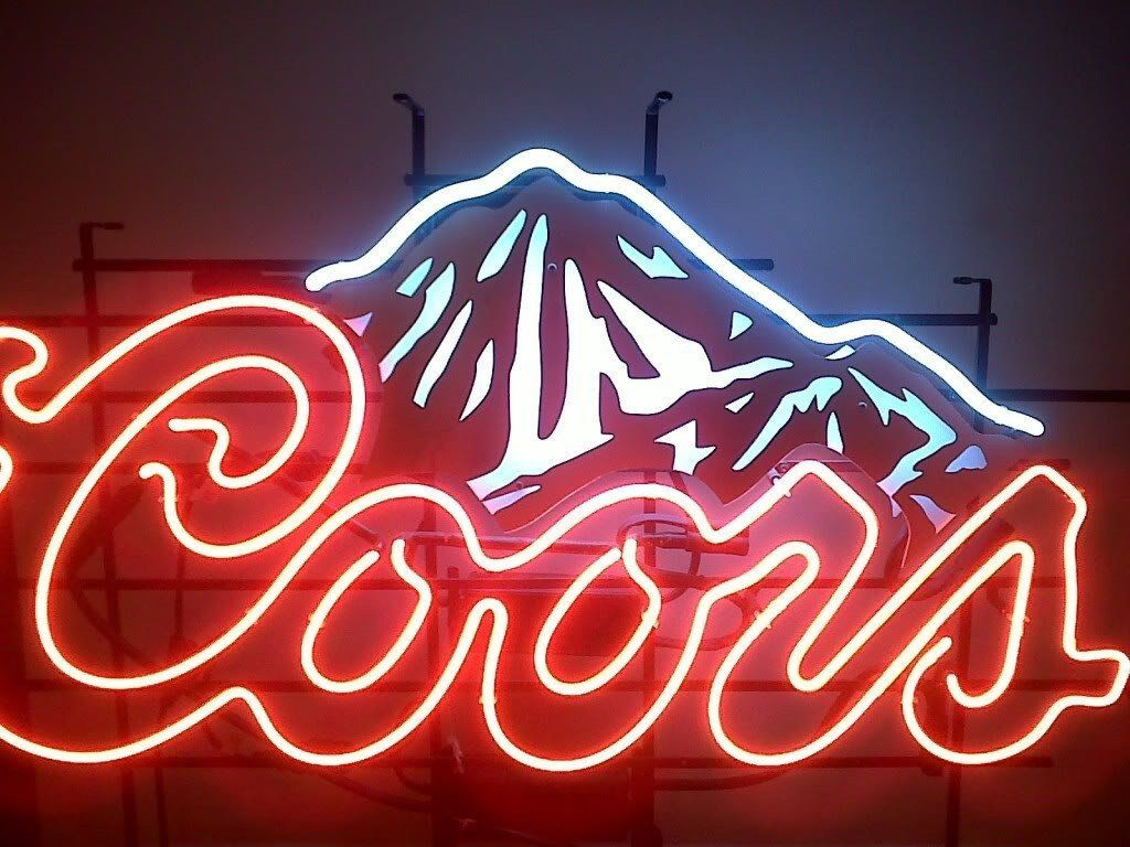 Coors Light Neon Sign Real Mi Cuarto