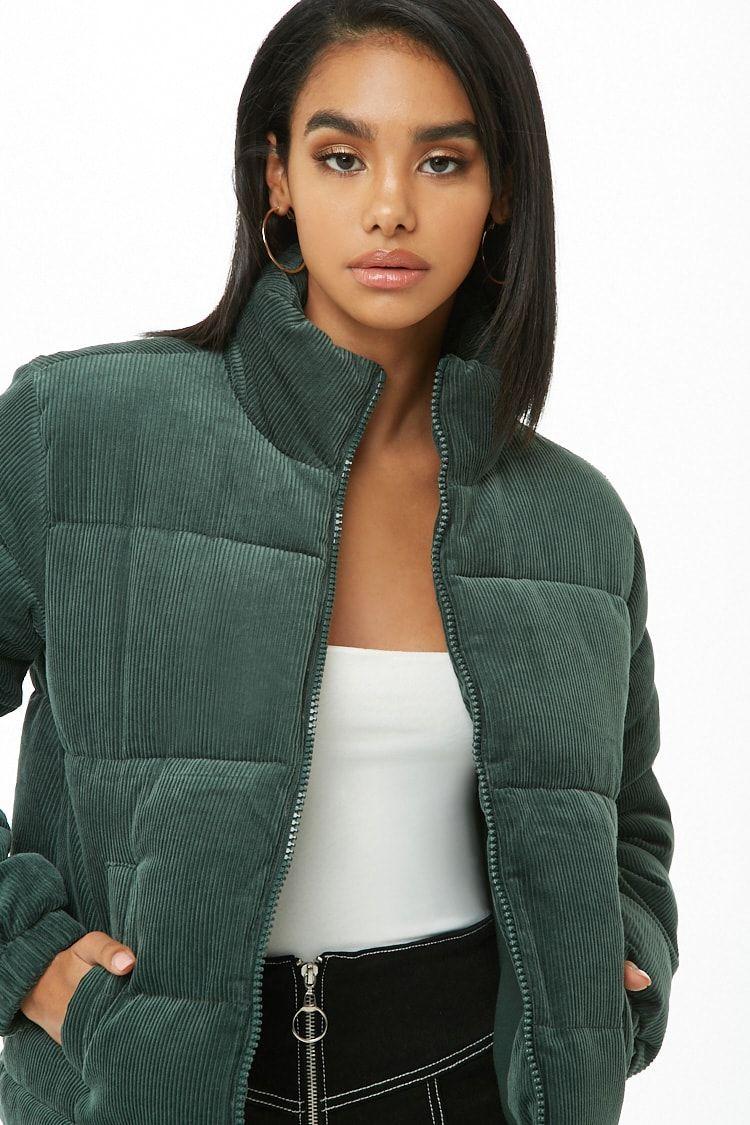 6522dbb66e9e5 Corduroy Puffer Jacket | fall/winter'18 in 2019 | Puffer jackets ...