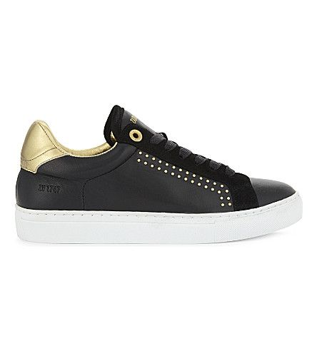 Zv1747 Studded Leather Sneakers, Noir Gold | Studded leather, Leather  sneakers and Leather