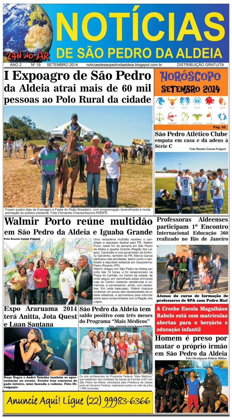 Notícias de São Pedro da Aldeia: JORNAL NOTÍCIAS DE SÃO PEDRO DA ALDEIA EDIÇÃO DE S...
