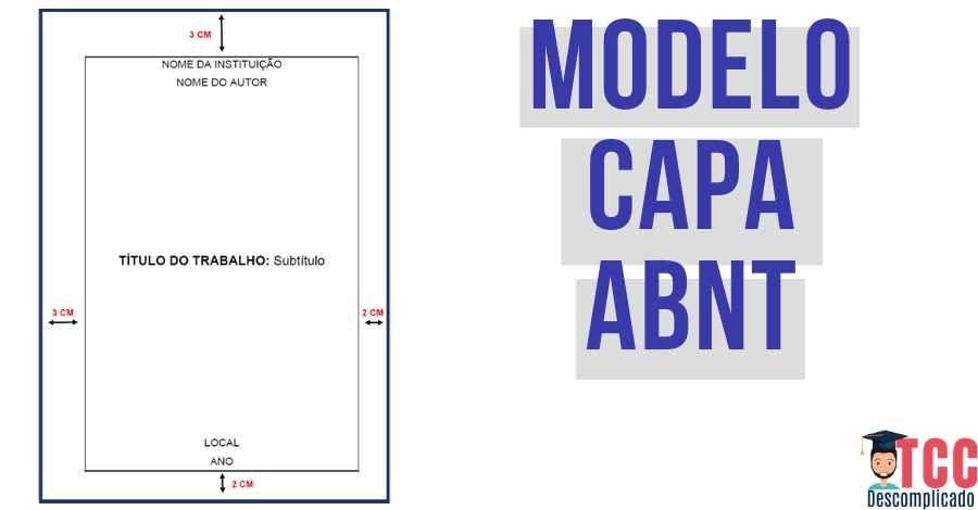 Modelo De Capa Abnt Veja Como Fazer A Capa Do Tcc Modelo De