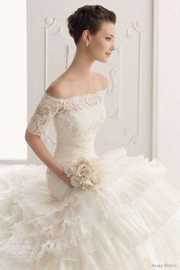 Very pretty    alma novia wedding dress 2012 -  Sabela gown