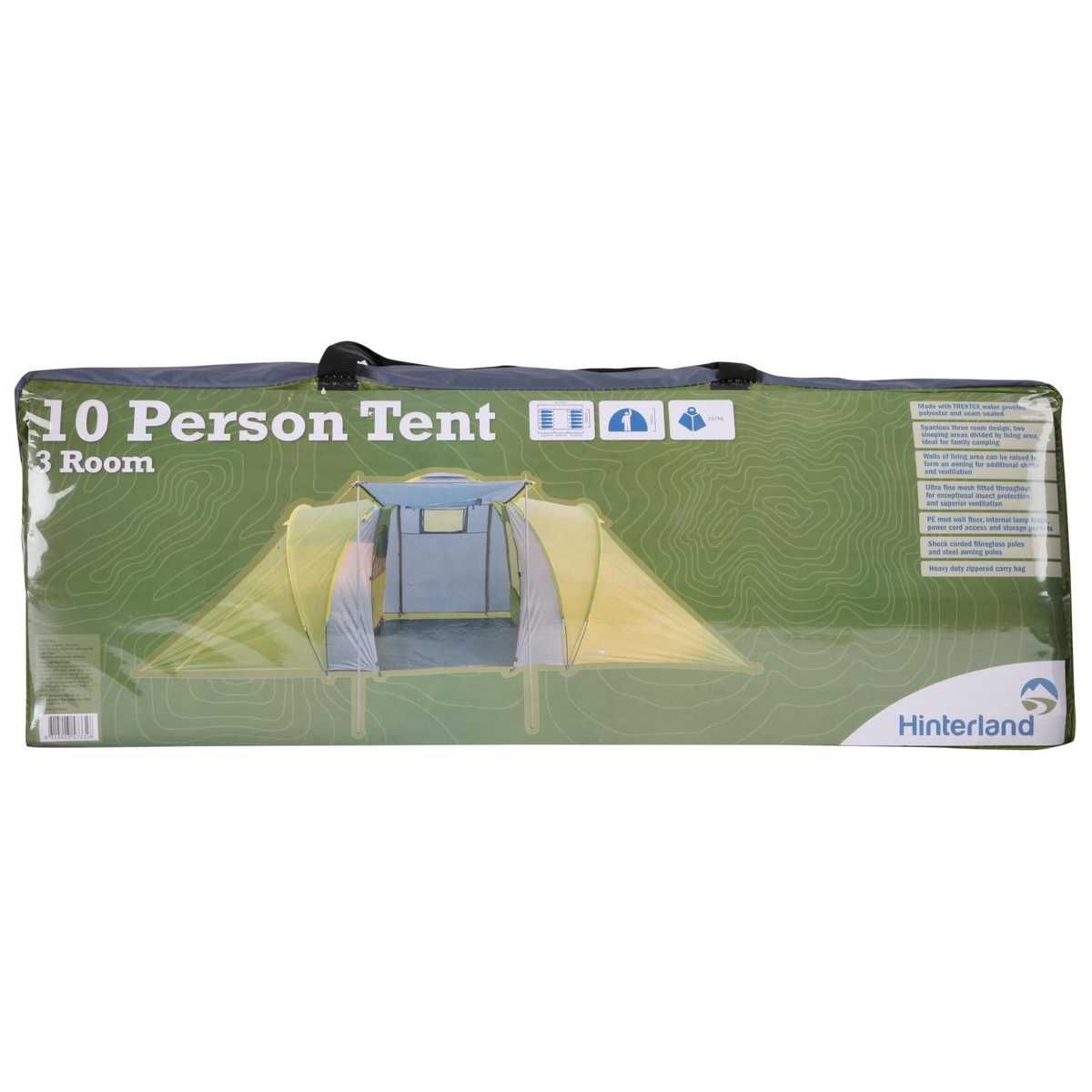 Hinterland 10 Person 3 Room Tent | BIG W | Lets go camping