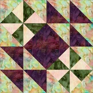 """Hither and Yon Quilt Block Pattern -12"""""""
