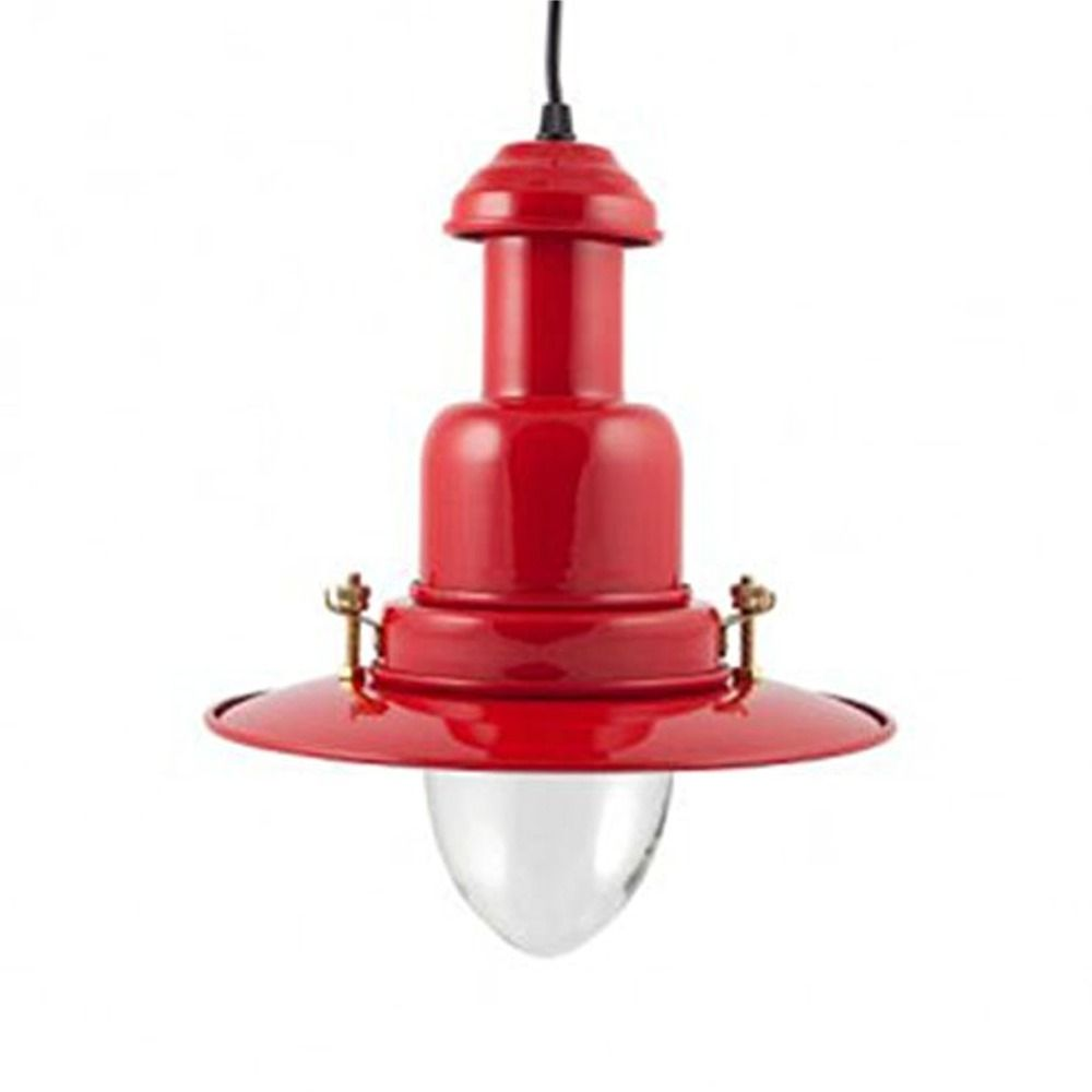 Red Pendant Lights For Kitchen Large Fishermans Pendant Light Choice Of 8 Colours Rockport