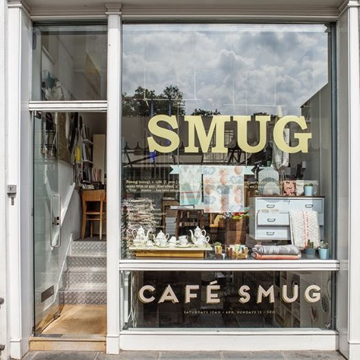 SMUG & CAFE SMUG - London 13 Camden Passage Islington N1 8EA   (Wednesday11am–6pmThursday12am–7pmFriday11am–6pmSaturday11am–6pmSunday12pm–5pm)