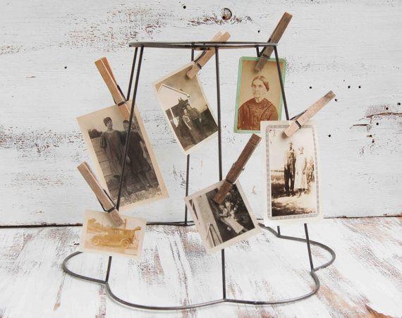 Display old postcards vintage wire frame lampshade photo display display old postcards vintage wire frame lampshade photo display greentooth Images