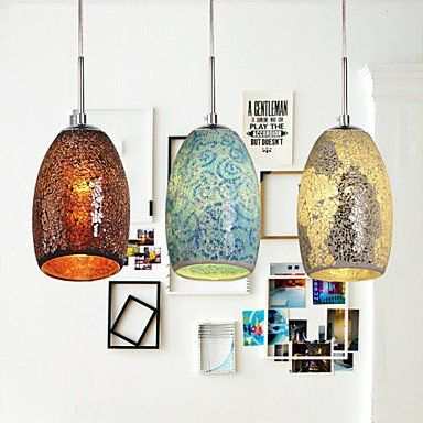Sofiamore Decoration Pendant 1 Light Tiffany Resin Glass Painting