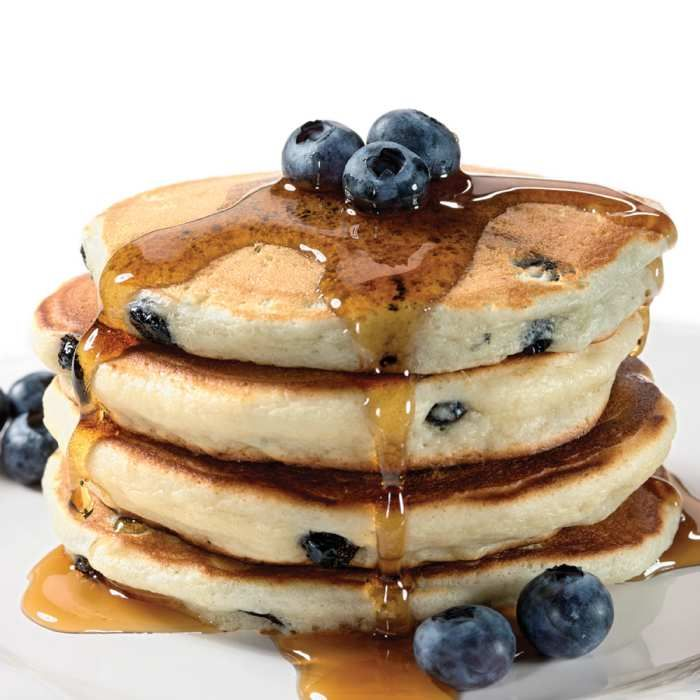 Blueberry Sour Cream Pancake Mix Sour Cream Pancakes Food Dessert Recipes