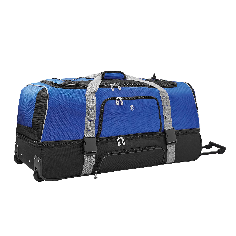 Protege 36 Drop Bottom Rolling Duffel Blue W Black Luggage Bags Travel Duffel Duffel Bag Travel