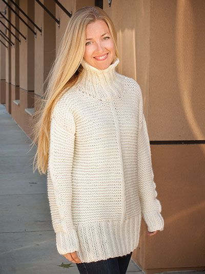 ANNIE'S SIGNATURE DESIGNS: Chunky Garter Sweater Knit ...