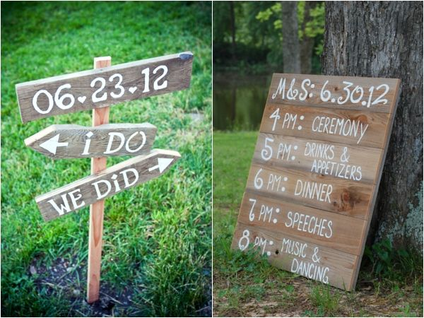 I Do We Did Wedding Date Sign Timeline Rustic Signs