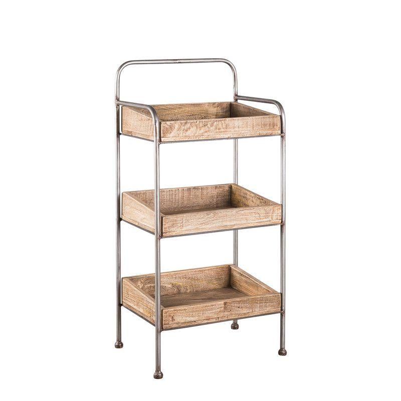 Beryl 38 H Utility Rack Furniture Wood Shelves Plastic Shelves