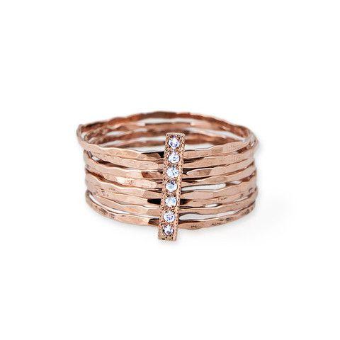 DIAMOND MULTI WAIF RING- Jacquie Aiche Jewelry LOOVEE