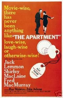 THE APARTMENT MOVIE PRINT - JACK LEMMON AND SHIRLEY MCLAINE - 12 x 18 - FREE SHIPPING