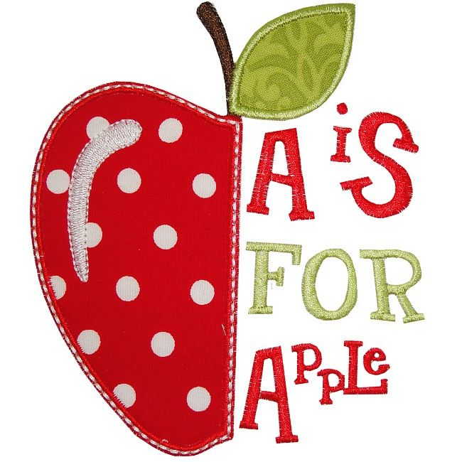 A is for Apple Applique