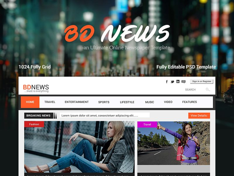 Bdnews  Web UiUx Design On Newspaper Template By Anjan Rhudra