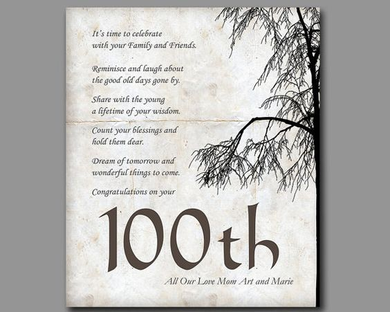 100th Birthday 100 Years Old Gift By MoonlightGraphics