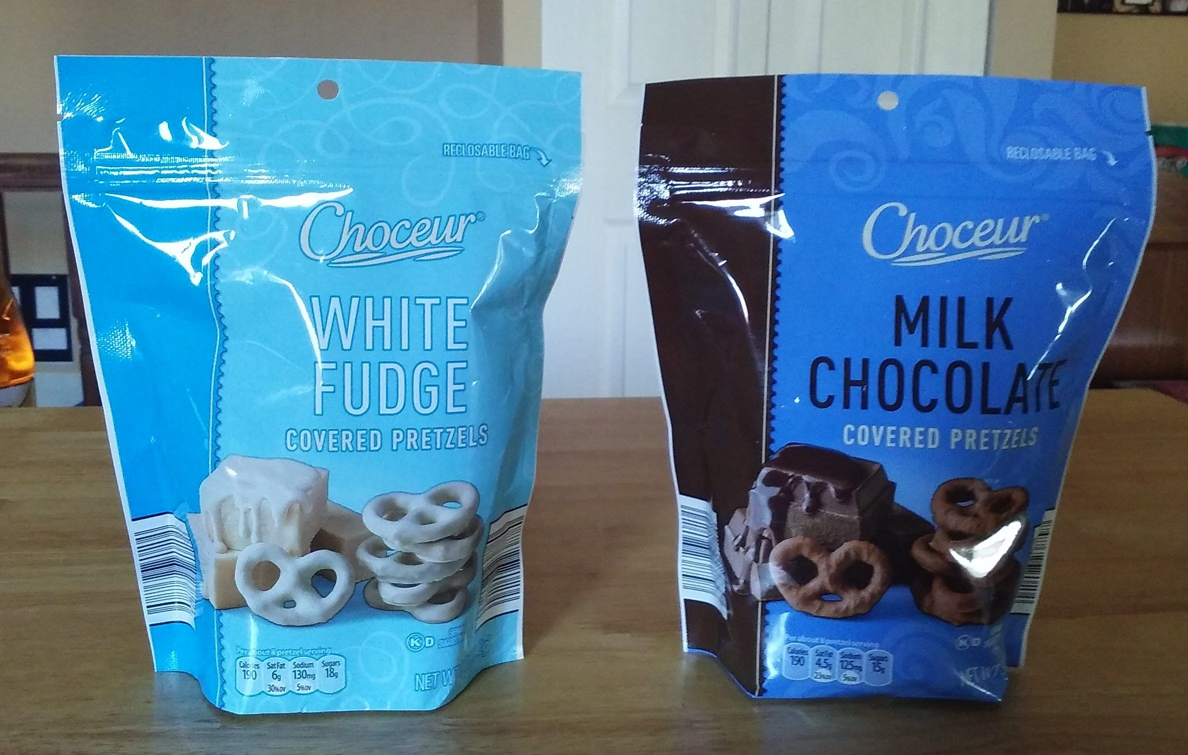 Choceur Milk Chocolate and White Fudge Covered Pretzels