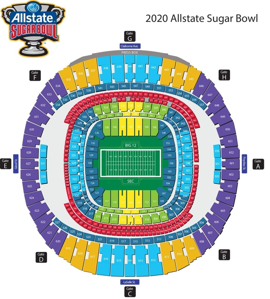 New Orleans Superdome Seating Chart Seating Charts New Orleans Superdome Chart