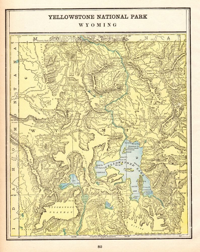 1896 Antique YELLOWSTONE National Park Map Vintage Yellowstone ... on mt rushmore on map of usa, texas on map of usa, sierra nevada on map of usa, california on map of usa, virginia on map of usa, arkansas river on map of usa, rhode island on map of usa, pikes peak on map of usa, new england on map of usa, cascade range on map of usa, new madrid on map of usa, santa fe on map of usa, montana on map of usa, missouri on map of usa, arizona on map of usa, oklahoma on map of usa, salt lake city on map of usa, oregon on map of usa, black hills on map of usa, cheyenne on map of usa,
