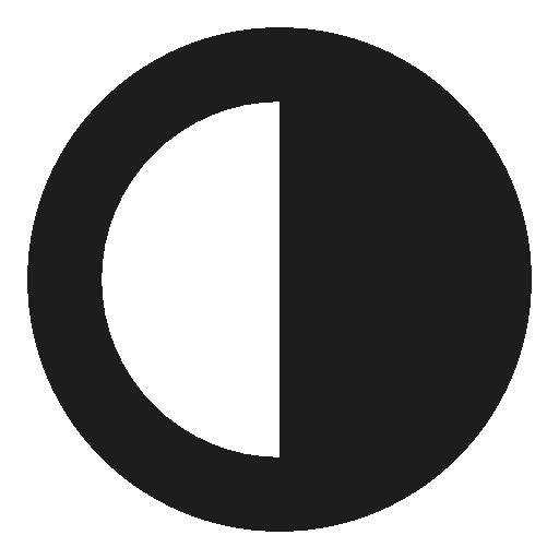 Contrast Interface Circular Symbol Half Black Half White Free Vector Icons Designed By Freepik Vector Icon Design Free Icons Symbols