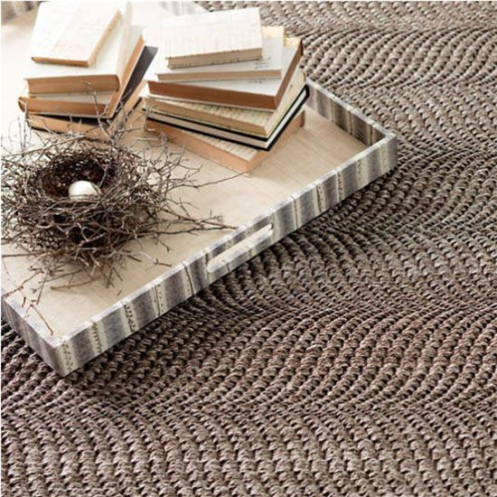 Artistic Stairs Canada: Dash And Albert Wave Greige Sisal Woven Rug