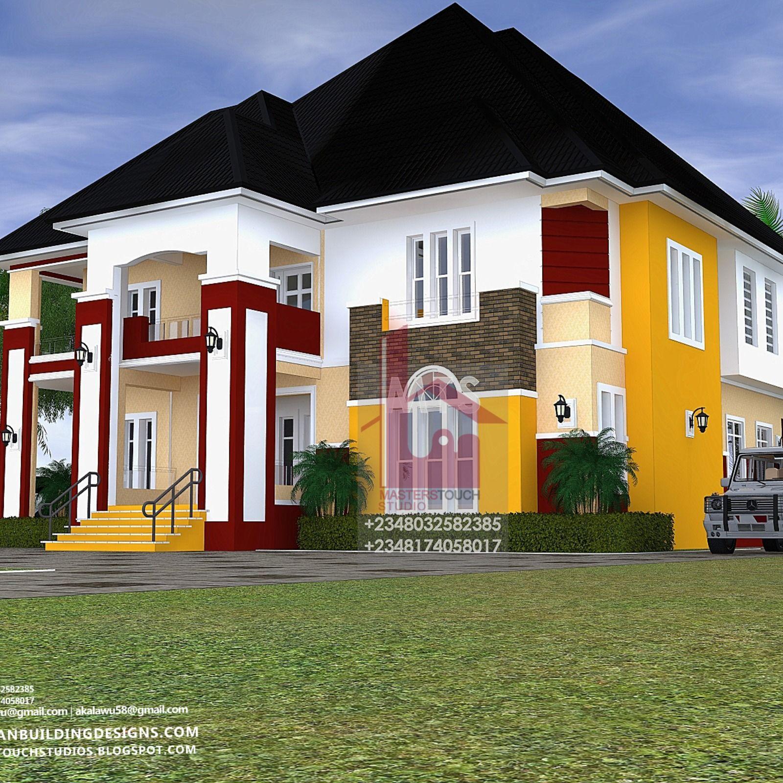 Beautiful Houseexterior Designs: 5 BEDROOM DUPLEX (RF D5010) -