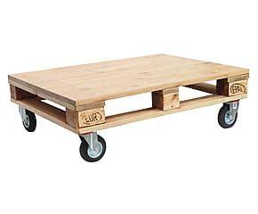 Tavolino in legno Industrial naturale - 100x30x74 cm