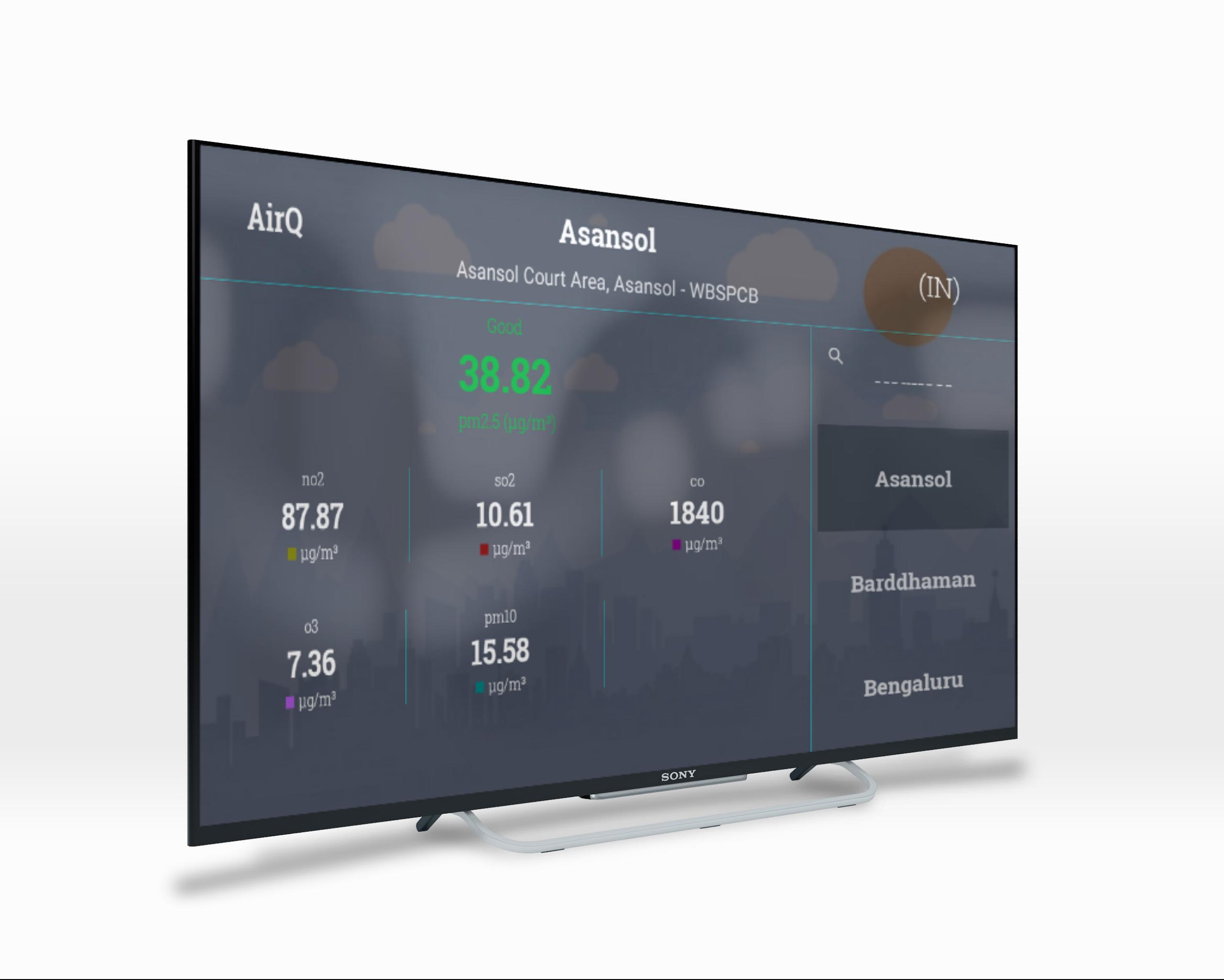 """AirQ aim for """"Breath Healthy Air"""" Live forecast air"""