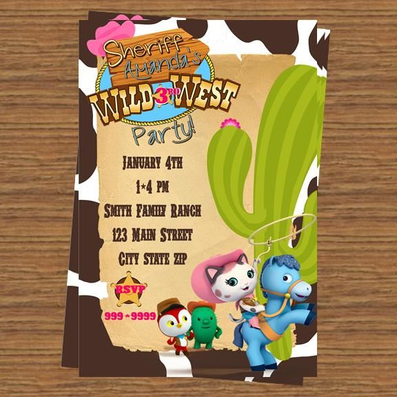 Sheriff Callie Party Invitation Birthdays Sheriff Callie