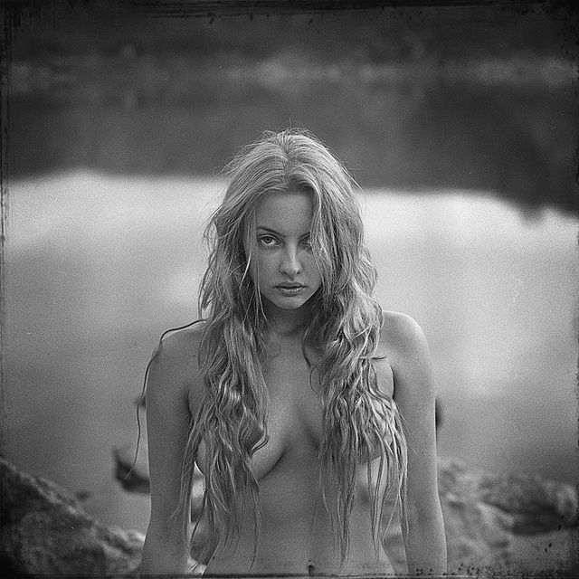 Shooting film impressive black and white portrait medium format film photography by wiktor franko