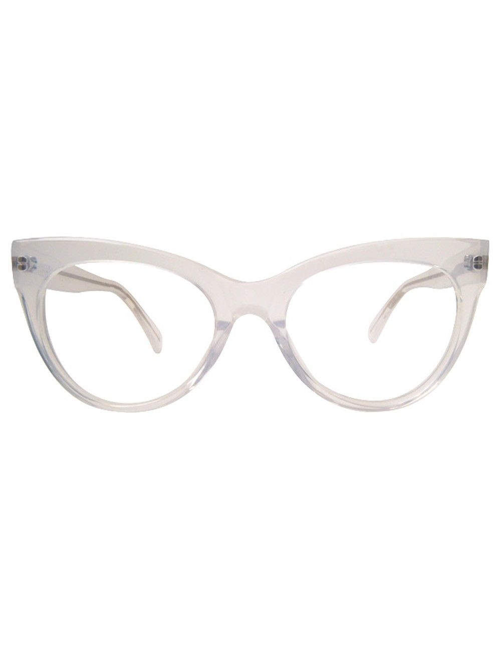 60e227fb51 Square Cat Eye Glasses   Clear - Kamali Kulture - Designers
