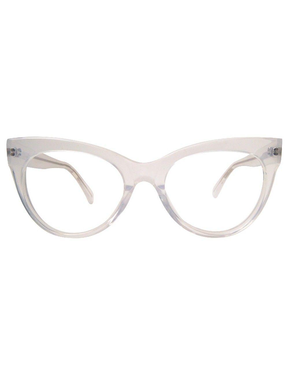 Square Cat Eye Glasses / Clear - Sunglasses - Shop ...