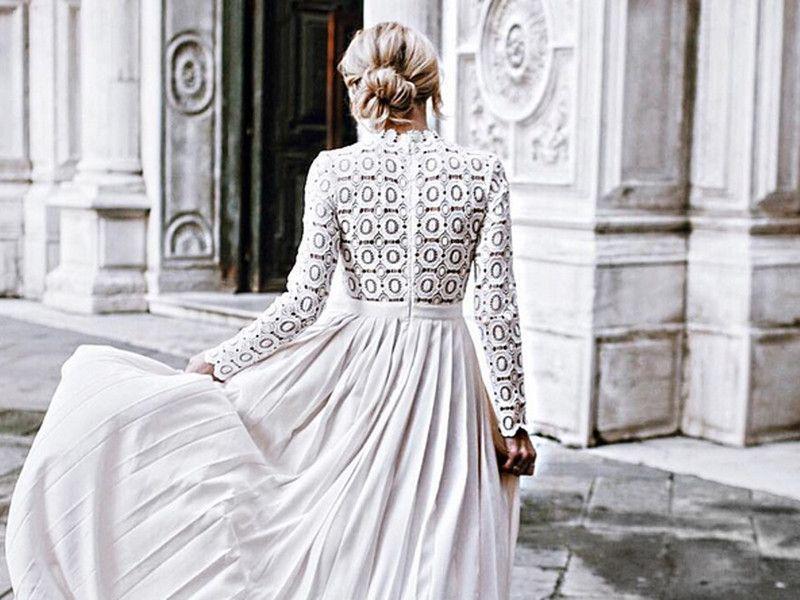 sommertrends 2016 hochzeitskleid brautkleid mit armeln und spitze elegant rochii pinterest amazing dresses wedding and dress summer trends mens