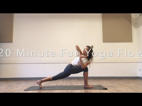 20 minute core flow yoga class  youtube  yoga video