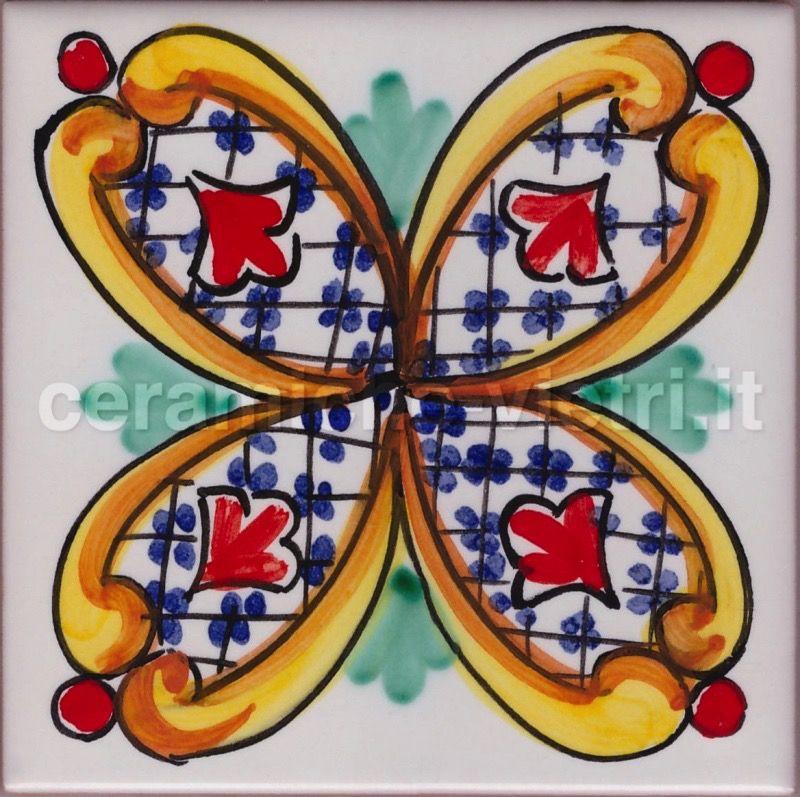 Ceramiche piastrelle 20x20 decorate a mano in - Mattonelle in ceramica decorate ...