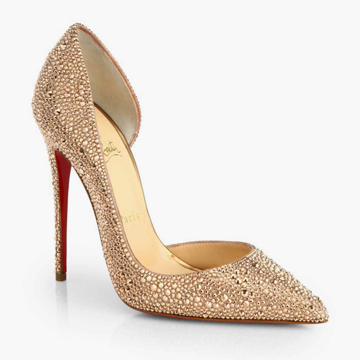 christian louboutin gold bridal shoes